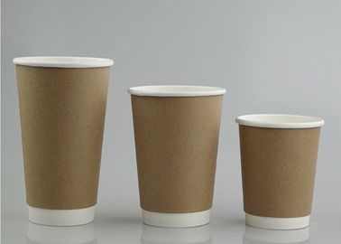 Recycle Double Wall Custom Printed Paper Coffee Cups Soak Proof Biodegradable