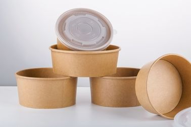 100% Recyclable Custom Take Away Paper Soup Bowls Disposable Free Sample